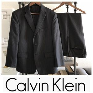 Calvin Klein Pin Stripe Slim-Fit Suit